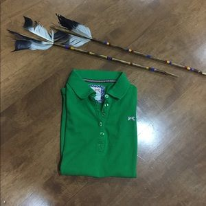Tommy girl green polo shirt in M